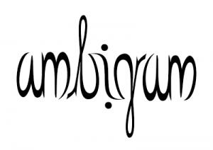 "Ambigram of ""ambigram"""