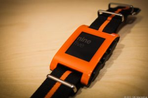 Orange version of the original Pebble